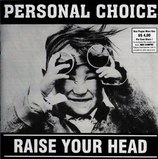 PERSONAL CHOICE - RAISE YOUR HEAD - VINIL 1995